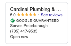 Google-Guaranteed-PLumber-Peterborough-Cardinal