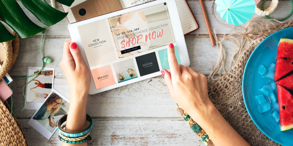 Shopping on tablet